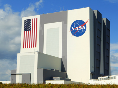 Vab Building at Sunrise, Cape Canaveral, Ksc, Titusville, Florida, Usa Photographic Print by Maresa Pryor
