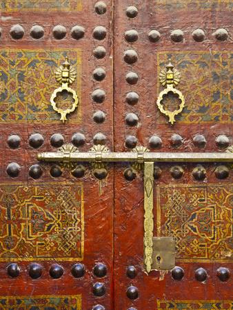 Ornate Door, Sidi Ahmed Tijani Mosque, the Medina, Fes, Morocco Photographic Print by Doug Pearson