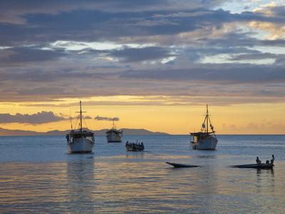 Venezuela, Nueva Esparta, Isla De Margarita - Margarita Island, Juangriego, Sunset over Juangreigo  Photographic Print by Jane Sweeney