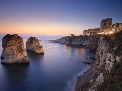 Lebanon, Beirut, the Corniche, Pigeon Rocks Photographic Print by Michele Falzone
