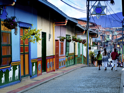 Guatape, Colombia, Outside of Medellin, Small Town known for its 'Zocalos' Panels of Three Dimensio Photographic Print by John Coletti