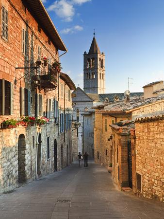 Italy, Umbria, Perugia District, Assisi, Basilica of Santa Chiara Photographic Print by Francesco Iacobelli