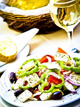 Greek Salad, Plaka District, Athens, Greece Photographic Print by Doug Pearson