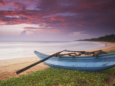 Bentota Beach at Sunset, Western Province, Sri Lanka Photographic Print by Ian Trower