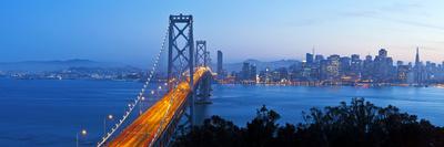 USA, California, San Francisco, City Skyline and Bay Bridge from Treasure Island Photographic Print by Gavin Hellier