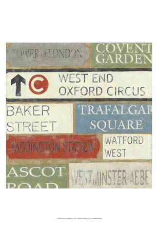Tour of London Prints by Chariklia Zarris