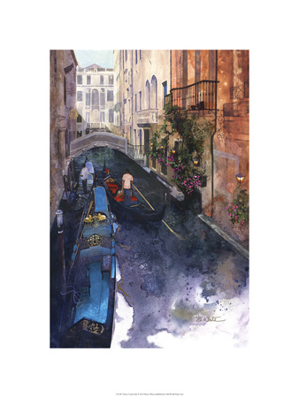 Venice Canal, Italy Premium Giclee Print by Bruce White