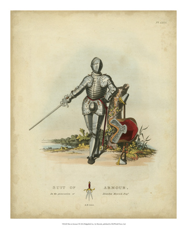 Men in Armour I Art Print