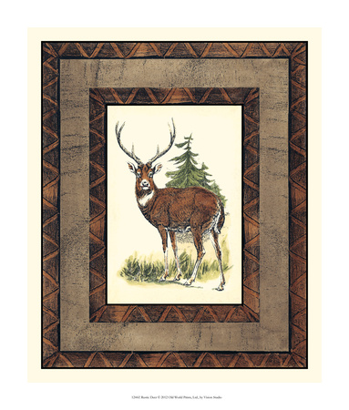 Rustic Deer Giclee Print