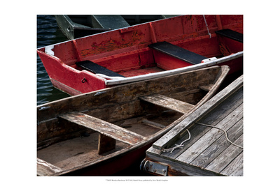 Wooden Rowboats X Art by Rachel Perry
