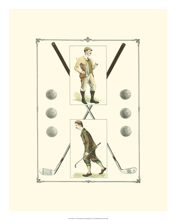 Golfers: H. Hutchinson & John Ball Giclée-tryk af  Spy (Leslie M. Ward)