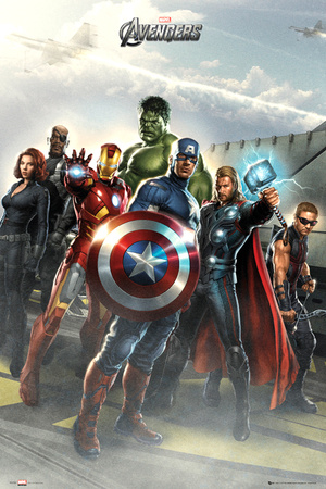 Avengers-Airbase Affiche