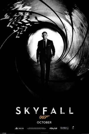 Skyfall Daniel Craig James Bond movie film poster