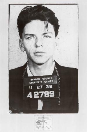 Frank Sinatra Mugshot Plakat