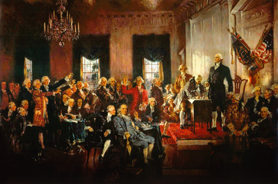 Signing of the Constitution by Howard Chandler Christy