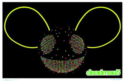 Deadmau5 Blacklight Mouse Design poster wall art