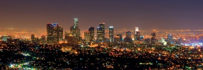 Los Angeles Skyline at Night Prints by Andy Z