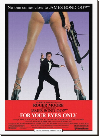 For your eyes only james bond roger moore vintage movie film poster