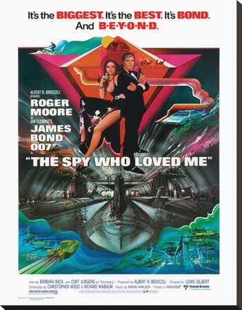 The spy who loved me James Bond Roger Moore movie poster