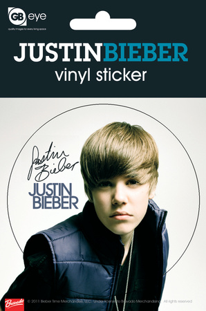 justin bieber autograph vinyl sticker stickers na. Black Bedroom Furniture Sets. Home Design Ideas