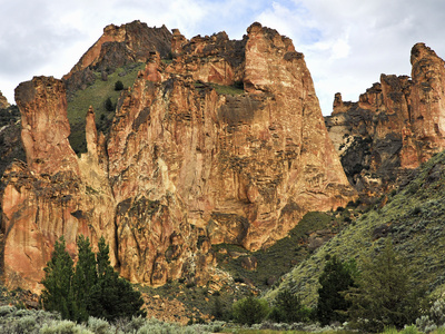 Tuffs in Leslie Gulch Erupted from the Nearby Mahogany Mountain Caldera About 15 Million Years Ago Photographic Print by Ellen Bishop