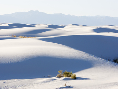 Sand Dunes in White Sands National Monument, New Mexico, USA Photographic Print by John Cornell