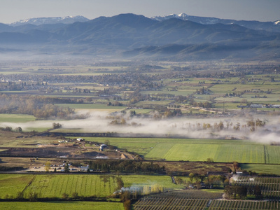 The Rogue Valley Is a Farming and Timber-Producing Region in Southwestern Oregon Photographic Print by Sean Bagshaw