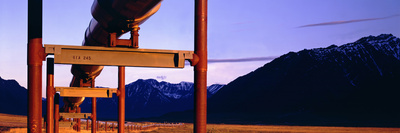 The Trans Alaska Pipeline Just North of the Brooks Range Looking South Photographic Print by Paul Andrew Lawrence