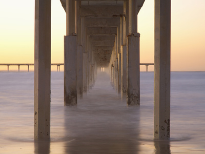 Underneath the Ocean Beach Pier San Diego beach photo by Patrick Smith
