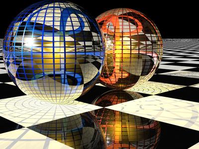 Spheres with Reflections Lámina fotográfica por Carol & Mike Werner