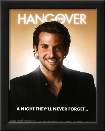 The Hangover Movie Bradley Cooper A Night They'll Never Forget Poster Print Art