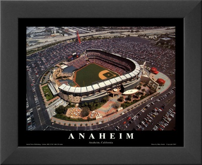Anaheim: Edison Field, Angels Baseball, California Posters by Mike Smith