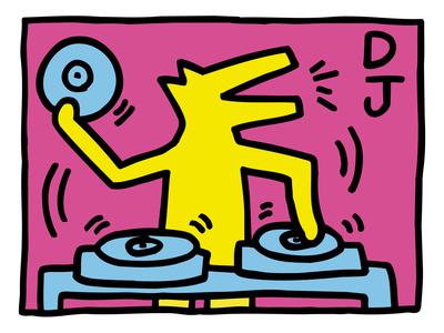 Pop Shop (DJ) Prints by Keith Haring