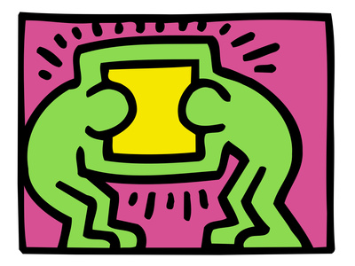 Pop Shop (TV) Poster by Keith Haring