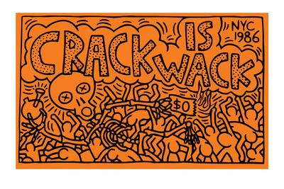 Crack is Wack Giclée-tryk af Keith Haring