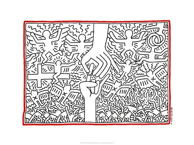 The Marriage of Heaven and Hell, 1984 Giclee Print by Keith Haring