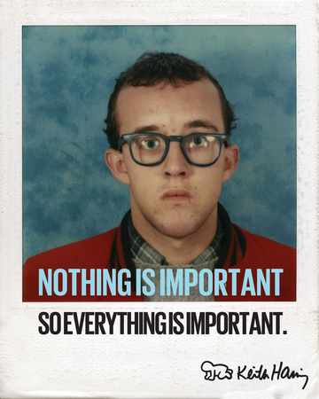 Nothing is Important Print by Keith Haring