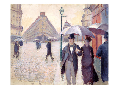 Sketch for 'Paris Street; Rainy Day', 1877 Premium Giclee Print by Gustave Caillebotte
