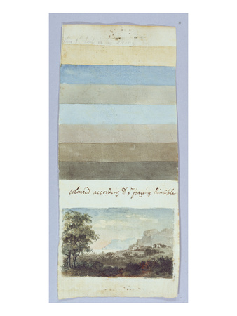Colour Chart, from 'Hints to Form the Taste and Regulate Ye Judgement in Sketching Landscape' Premium Giclee Print by Rev. William Gilpin