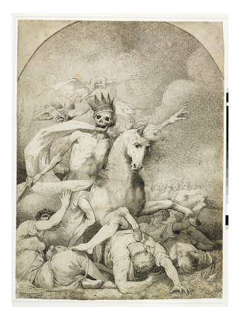 Death on a Pale Horse, C.1775 (Pen and Black Ink on Wove Paper) Premium Giclee Print by John Hamilton Mortimer