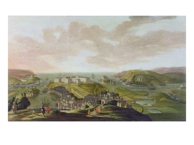 Plymouth, 1673 Premium Giclee Print by Hendrick Danckerts