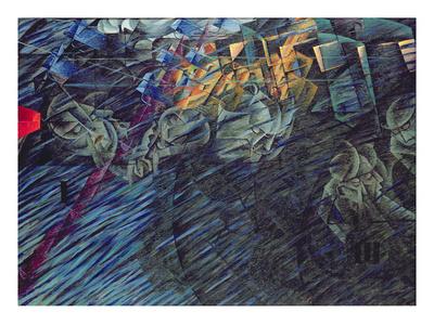 States of Mind: Those Who Go, 1911 Premium Giclee Print by Umberto Boccioni