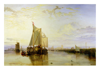 Dort or Dordrecht: the Dort Packet-Boat from Rotterdam Becalmed, 1817-18 Premium Giclee Print by J. M. W. Turner