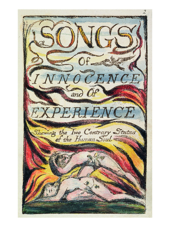 Combined Title Page from 'Songs of Innocence and of Experience', Plate 2 of Bentley Copy L Premium Giclee Print by William Blake