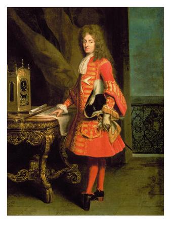 Portrait of a Cavalier, 1700 Premium Giclee Print by Robert Tournieres