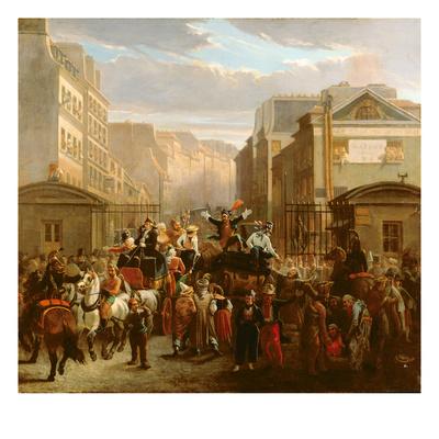Descente De La Courtille', Belleville Giclee Print by Celestin Francois Nanteuil