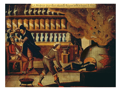 The Pharmacist's Workshop Premium Giclee Print by  French
