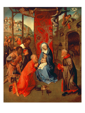 The Adoration of the Magi Premium Giclee Print by Hugo van der Goes