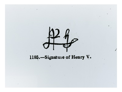 Signature of Henry V (1387-1422) (Engraving) (B&W Photo) Premium Giclee Print
