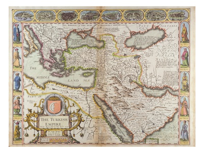The Turkish Empire, from 'A Prospect of the Most Famous Parts of the World' Giclee Print by John Speed!
